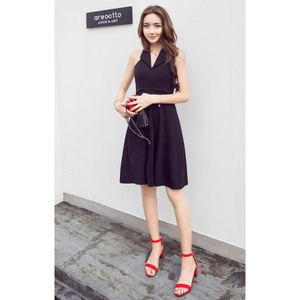 184bbe743f ... KDS051811895Y Halter neck skater dress ACTUAL PHOTO (more colors) ...