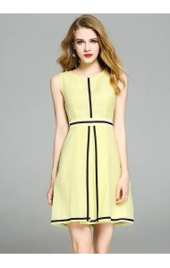 BDS052317D Yellow slim A line dress ACTUAL PHOTO
