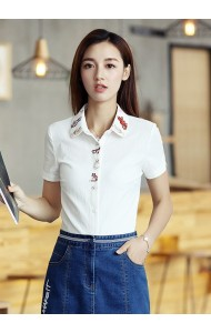KTP052593885S Floral embroidery shirt ACTUAL PHOTO