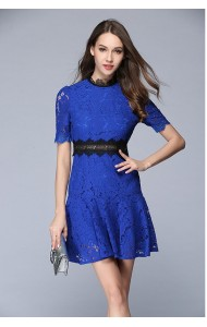 BDS052846083Y Trumpet full lace dress ACTUAL PHOTO (3 colours)