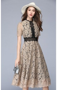 BDS052936087Y Full lace skater maxi dress ACTUAL PHOTO (3 colours)
