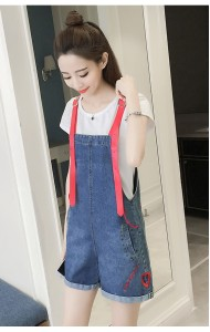 KDS05315912E Embroidery jumpsuit with leather strap ACTUAL PHOTO