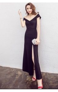 KDS061399692Y Off shoulder split maxi dress ACTUAL PHOTO