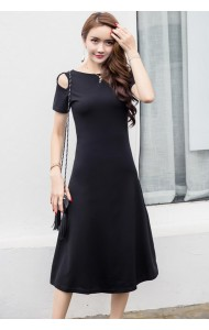KDS061432895Y Off shoulder basic maxi dress ACTUAL PHOTO