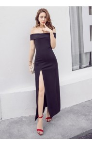KDS061488695Y Off shoulder split sexy dress ACTUAL PHOTO