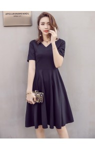 KDS061497692Y V neck skater dress ACTUAL PHOTO