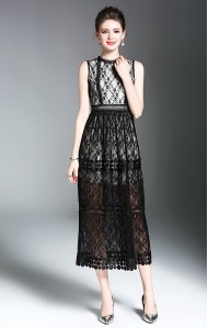 BDS061557062X Full lace maxi dress ACTUAL PHOTO