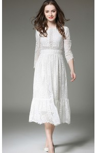 BDS061718735P Long sleeves lace dress ACTUAL PHOTO