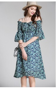 BDS061730668P Off shoulder floral dress ACTUAL PHOTO