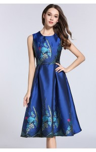 BDS061998062A Embroidery floral midi dress ACTUAL PHOTO