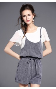 BST0708008D Drawstring 2-piece jumpsuit set ACTUAL PHOTO