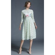 BDS071057156X Full lace embroidery dress ACTUAL PHOTO
