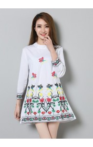 KDS07120384X Embroidery shirt/dress ACTUAL PHOTO