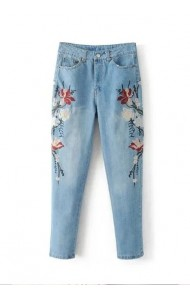 KPT0801001C Embroidery floral skinny jeans ACTUAL PHOTO