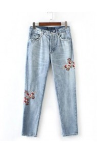 KPT0801003C Embroidery floral skinny jeans ACTUAL PHOTO