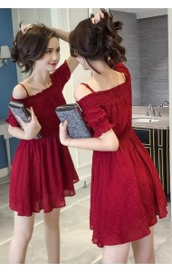 KDS0812798X Off shoulder maroon dress ACTUAL PHOTO