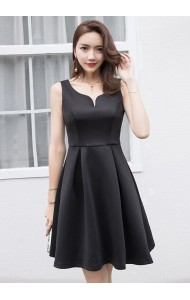 KDS08168818X V neck skater party dress ACTUAL PHOTO