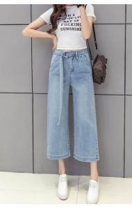 KPT0818213S Denim belted pants REAL PHOTO