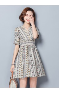 KDS08201263Q Overlapping printed floral dress ACTUAL PHOTO