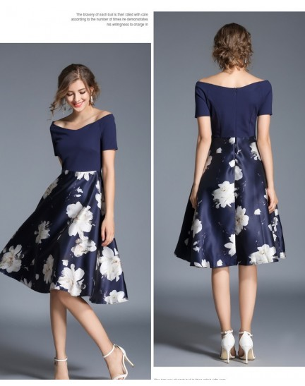 BDS08238249H Off shoulder floral dress ACTUAL PHOTO