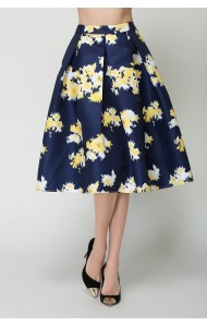 BSK0826028Y Floral midi skirt ACTUAL PHOTO