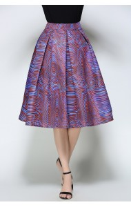 BSK0829108Y Printed midi skirt ACTUAL PHOTO