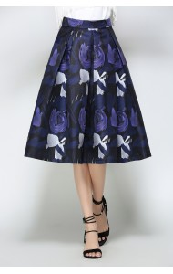 BSK0829908Y Floral midi skirt ACTUAL PHOTO
