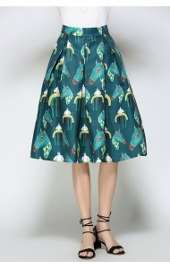 BSK0829018Y Horse print midi skirt ACTUAL PHOTO
