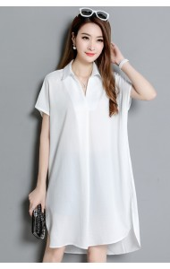 KDS09089109H Plus size bat wing shirt dress ACTUAL PHOTO