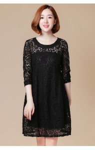 KDS09086571J Plus size full lace dress ACTUAL PHOTO