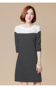 KDS09085371J Plus size crochet shoulder stripes dress ACTUAL PHOTO