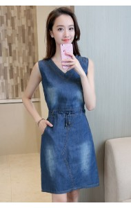 KDS0922928J Plus size drawstring denim dress ACTUAL PHOTO