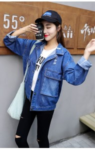 KTP09231681J Korea denim rip jacket ACTUAL PHOTO