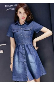 KDS09258288C Denim dress ACTUAL PHOTO
