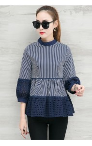 KTP0929901D Puff sleeves cotton blouse REAL PHOTO