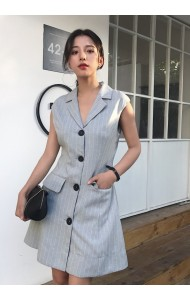 KDS09292007D Sleeveless coat dress REAL PHOTO
