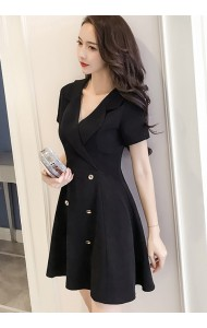 KDS1003298Y Short sleeves coat dress REAL PHOTO