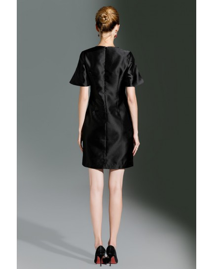 BDS10038017X Embroidery A line dress REAL PHOTO