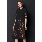 BDS10036117X Embroidery cheongsum dress REAL PHOTO