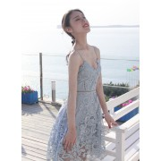 KDS010038188D Self portrait crochet lace dress REAL PHOTO