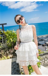 KDS10090486M SP inspired star crochet tiered dress REAL PHOTO