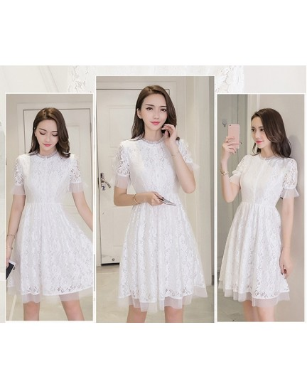 KDS10102172D Full lace white dress REAL PHOTO