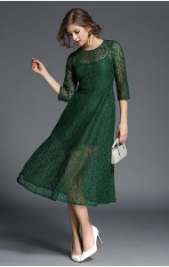 BDS10110808Y Full lace umbrella maxi dress REAL PHOTO