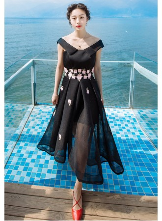 KDS10123089Y Netting embroidery prom dress REAL PHOTO