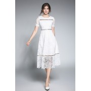 BDS10129906Y Dress lace with waist buckle REAL PHOTO