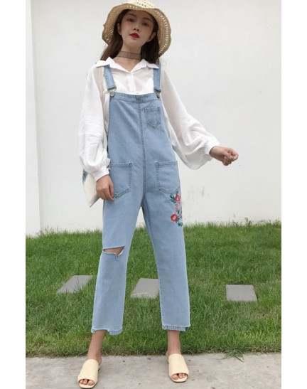 KJP10311312L Embroidery jumpsuit REAL PHOTO