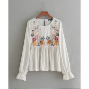 BTP11021003Y Linen printed blouse REAL PHOTO