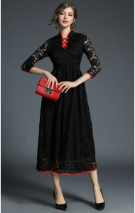 BDS11171116X Lace cheongsum dress REAL PHOTO