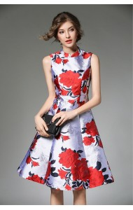 BDS11176806X Cheongsum floral jacquard dress REAL PHOTO