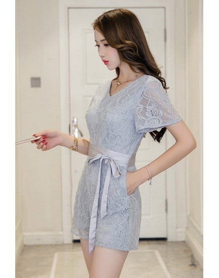 BDS1121001D V neck full lace jumpsuit REAL PHOTO